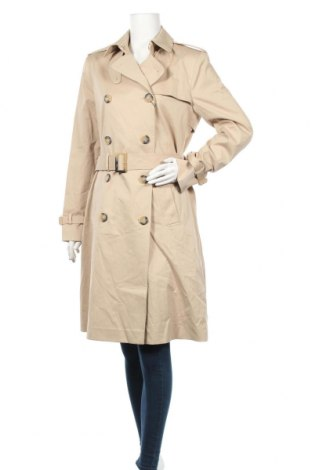 Дамски шлифер Massimo Dutti, Размер M, Цвят Бежов, 97% памук, 3% еластан, Цена 129,35лв.