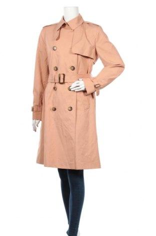 Дамски шлифер Massimo Dutti, Размер XS, Цвят Розов, 100% памук, Цена 139,30лв.