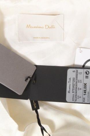 Дамски шлифер Massimo Dutti, Размер S, Цвят Екрю, 100% лен, Цена 89,57лв.