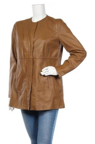 Дамско кожено яке Massimo Dutti, Размер L, Цвят Кафяв, Естествена кожа, Цена 239,40лв.