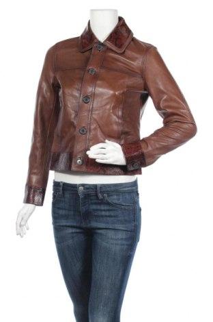 Дамско кожено яке Massimo Dutti, Размер S, Цвят Кафяв, Естествена кожа, Цена 245,40лв.