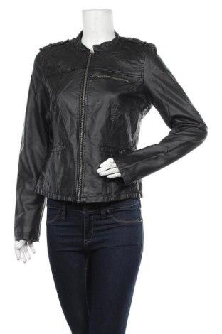 Γυναικείο δερμάτινο μπουφάν Vero Moda, Μέγεθος L, Χρώμα Μαύρο, Δερματίνη, Τιμή 27,15€