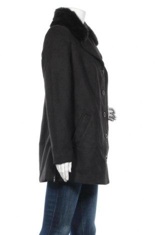 Дамско палто Bpc Bonprix Collection, Размер S, Цвят Черен, 88% полиестер, 10% вискоза, 2% еластан, Цена 45,14лв.