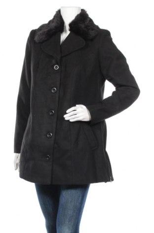 Дамско палто Bpc Bonprix Collection, Размер L, Цвят Черен, 88% полиестер, 10% вискоза, 2% еластан, Цена 45,14лв.