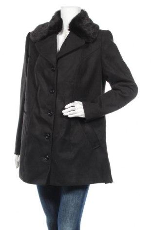 Дамско палто Bpc Bonprix Collection, Размер XL, Цвят Черен, 88% полиестер, 10% вискоза, 2% еластан, Цена 45,14лв.