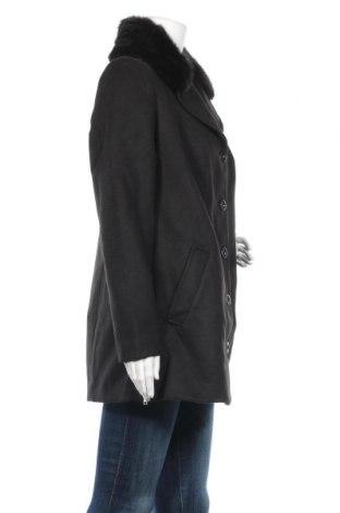 Дамско палто Bpc Bonprix Collection, Размер M, Цвят Черен, 88% полиестер, 10% вискоза, 2% еластан, Цена 45,14лв.