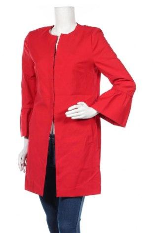 Damski płaszcz Comma,, Rozmiar S, Kolor Czerwony, 56% bawełna, 31% poliester, 13% elastyna, Cena 404,63zł