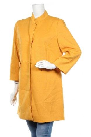 Damski płaszcz Comma,, Rozmiar L, Kolor Żółty, 65% poliester, 35% wiskoza, Cena 313,25zł