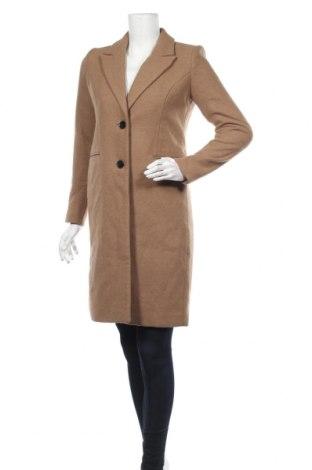Γυναικείο παλτό Vero Moda, Μέγεθος S, Χρώμα  Μπέζ, 70% πολυεστέρας, 30% μαλλί, Τιμή 97,42€