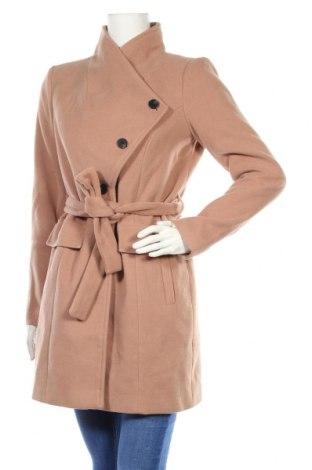 Γυναικείο παλτό Vero Moda, Μέγεθος M, Χρώμα  Μπέζ, 89% πολυεστέρας, 10% βισκόζη, 1% ελαστάνη, Τιμή 44,33€