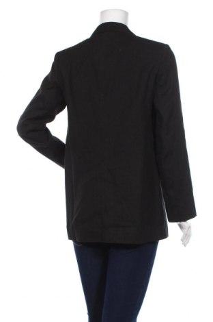 Дамско сако Massimo Dutti, Размер M, Цвят Черен, 63% лен, 36% памук, 1% еластан, Цена 94,87лв.