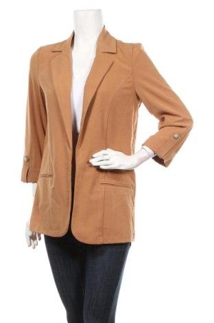 Γυναικείο σακάκι Vero Moda, Μέγεθος S, Χρώμα Καφέ, 63% πολυεστέρας, 33% βισκόζη, 4% ελαστάνη, Τιμή 30,54€