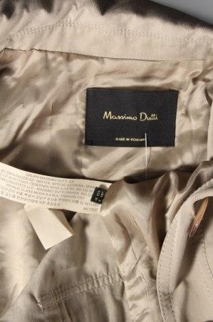 Дамско яке Massimo Dutti, Размер M, Цвят Бежов, Лиосел, Цена 89,57лв.