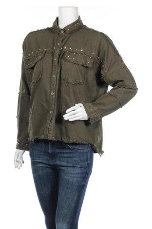 Γυναικείο μπουφάν Zara, Μέγεθος M, Χρώμα Πράσινο, Τιμή 27,93€