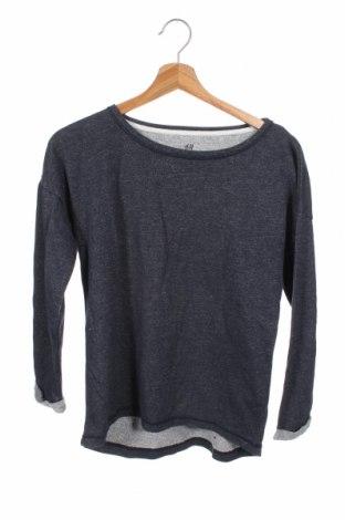 Dziecięca bluzka H&M, Rozmiar 12-13y/ 158-164 cm, Kolor Niebieski, 73% bawełna, 18% poliester, 9% metalowe nici, Cena 43,20zł