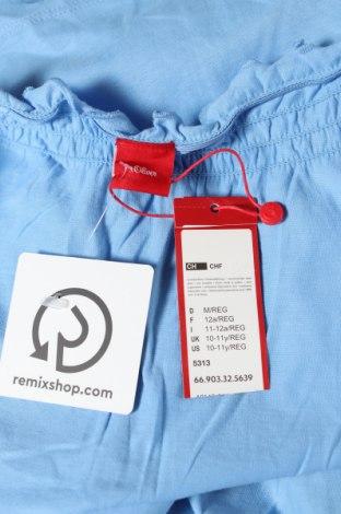 Παιδική μπλούζα S.Oliver, Μέγεθος 10-11y/ 146-152 εκ., Χρώμα Μπλέ, Βαμβάκι, Τιμή 14,69€