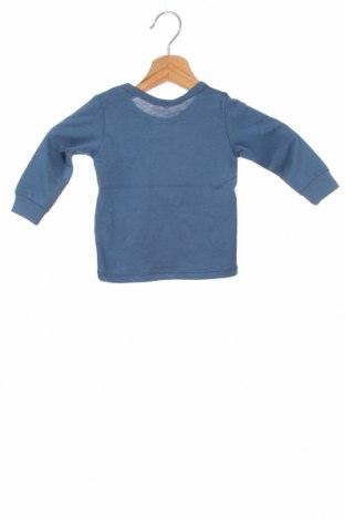 Детска блуза United Colors Of Benetton, Размер 3-6m/ 62-68 см, Цвят Син, Памук, Цена 21,00лв.