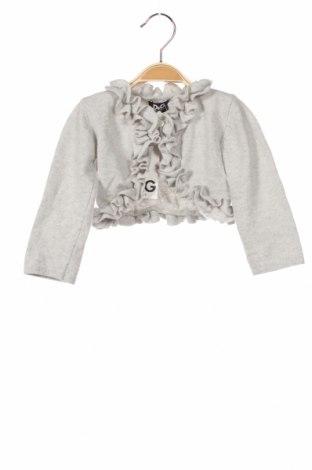 Dziecięcy kardigan Dolce & Gabbana Junior, Rozmiar 9-12m/ 74-80 cm, Kolor Szary, 47% wełna, 30% wiskoza, 15% poliamid, 8% kaszmir, Cena 378,00zł