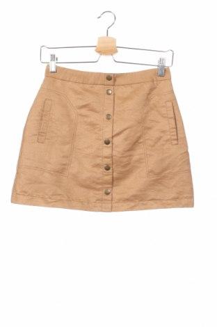 Dziecięca spódnica H&M, Rozmiar 13-14y/ 164-168 cm, Kolor Brązowy, 100% poliester, Cena 51,30zł