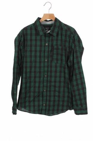 Παιδικό πουκάμισο Calvin Klein Jeans, Μέγεθος 15-18y/ 170-176 εκ., Χρώμα Μαύρο, 55% βαμβάκι, 45% πολυεστέρας, Τιμή 17,28€