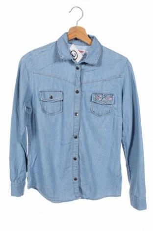 Παιδικό πουκάμισο John Baner, Μέγεθος 14-15y/ 168-170 εκ., Χρώμα Μπλέ, Βαμβάκι, Τιμή 9,25€