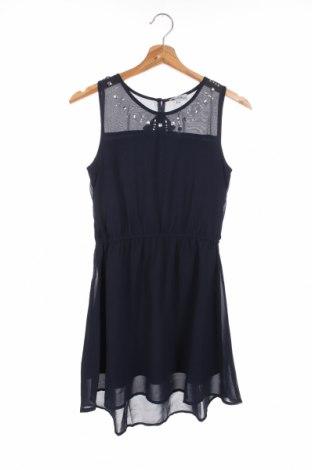 Dziecięca sukienka Happy Girls By Eisend, Rozmiar 10-11y/ 146-152 cm, Kolor Niebieski, Poliester, Cena 105,00zł