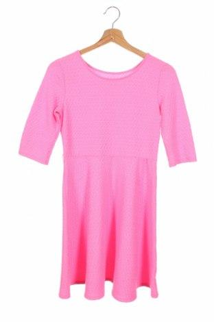 Dziecięca sukienka So, Rozmiar 13-14y/ 164-168 cm, Kolor Różowy, 98% poliester, 02% elastyna, Cena 78,00zł