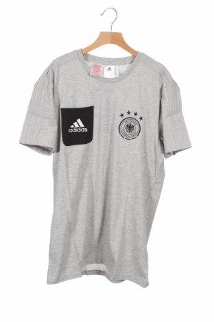Παιδικό μπλουζάκι Adidas, Μέγεθος 15-18y/ 170-176 εκ., Χρώμα Γκρί, 70% βαμβάκι, 30% πολυεστέρας, Τιμή 18,95€