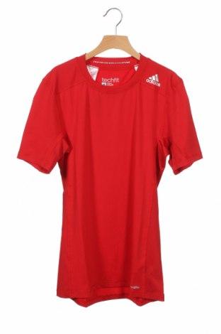 Παιδικό μπλουζάκι Adidas, Μέγεθος 15-18y/ 170-176 εκ., Χρώμα Κόκκινο, 88% πολυεστέρας, 12% ελαστάνη, Τιμή 16,24€