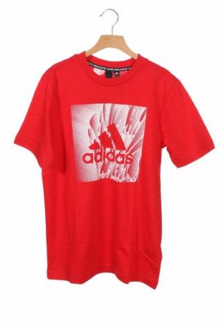 Παιδικό μπλουζάκι Adidas, Μέγεθος 12-13y/ 158-164 εκ., Χρώμα Κόκκινο, 95% βαμβάκι, 5% ελαστάνη, Τιμή 18,95€