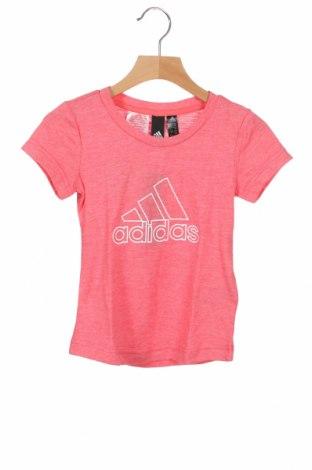 Παιδικό μπλουζάκι Adidas, Μέγεθος 4-5y/ 110-116 εκ., Χρώμα Ρόζ , 58% βαμβάκι, 21% βισκόζη, 21% πολυεστέρας, Τιμή 18,95€