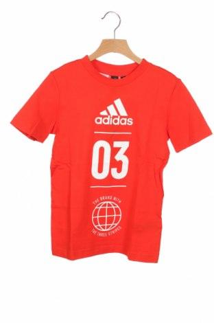 Dziecięcy T-shirt Adidas, Rozmiar 8-9y/ 134-140 cm, Kolor Czerwony, Bawełna, Cena 91,88zł