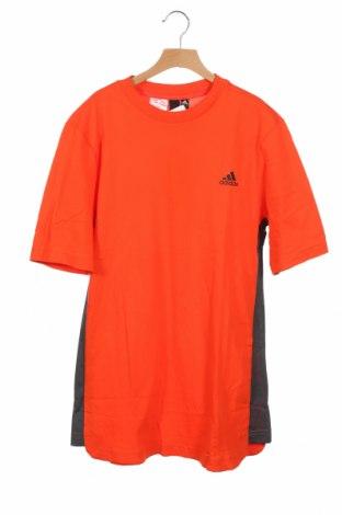 Dziecięcy T-shirt Adidas, Rozmiar 15-18y/ 170-176 cm, Kolor Pomarańczowy, Bawełna, Cena 91,88zł