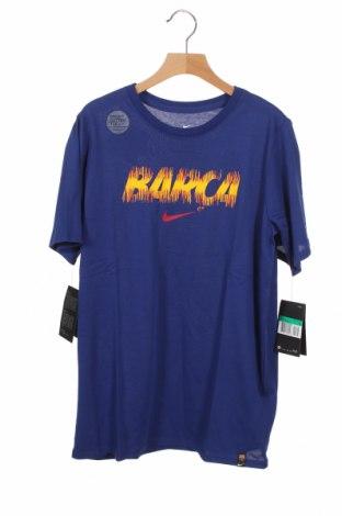Παιδικό μπλουζάκι Nike, Μέγεθος 12-13y/ 158-164 εκ., Χρώμα Μπλέ, 58% βαμβάκι, 42% πολυεστέρας, Τιμή 18,95€