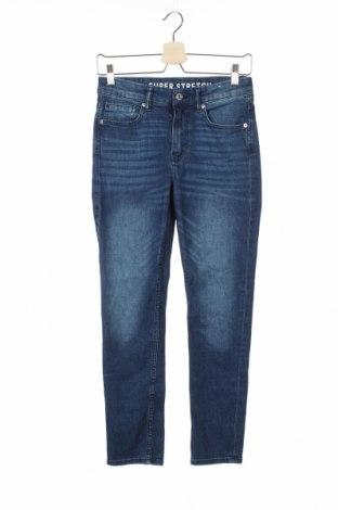 Dziecięce jeansy H&M, Rozmiar 10-11y/ 146-152 cm, Kolor Niebieski, 71% bawełna, 27% poliester, 2% elastyna, Cena 68,40zł