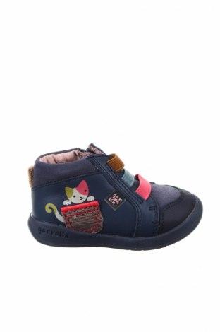 Παιδικά παπούτσια Garvalin, Μέγεθος 20, Χρώμα Μπλέ, Γνήσιο δέρμα, φυσικό σουέτ, Τιμή 17,79€