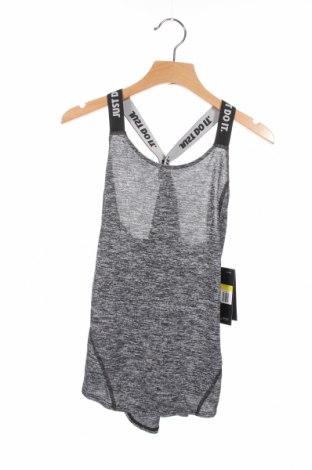 Μπλουζάκι αμάνικο παιδικό Nike, Μέγεθος 7-8y/ 128-134 εκ., Χρώμα Γκρί, Πολυεστέρας, Τιμή 15,08€