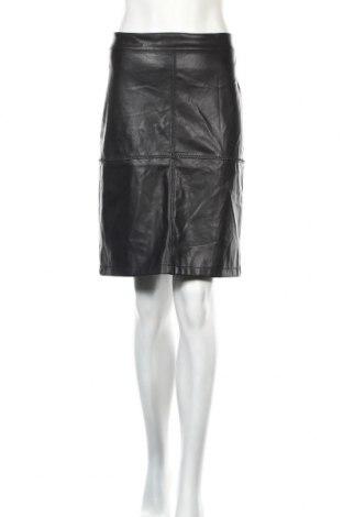 Кожена пола Soya Concept, Размер M, Цвят Черен, Еко кожа, Цена 27,41лв.