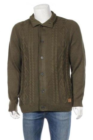 Мъжка жилетка John Baner, Размер XL, Цвят Зелен, 50% акрил, 50% памук, Цена 40,50лв.