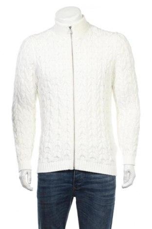 Ανδρική ζακέτα Massimo Dutti, Μέγεθος L, Χρώμα Λευκό, 93% βαμβάκι, 7% πολυεστέρας, Τιμή 45,88€
