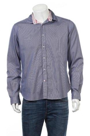 Męska koszula, Rozmiar M, Kolor Niebieski, 100% bawełna, Cena 45,60zł