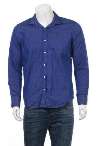 Męska koszula Jean Biani, Rozmiar M, Kolor Niebieski, 100% bawełna, Cena 45,60zł