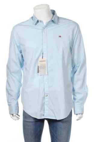 Ανδρικό πουκάμισο Napapijri, Μέγεθος XL, Χρώμα Μπλέ, 97% βαμβάκι, 3% ελαστάνη, Τιμή 42,94€