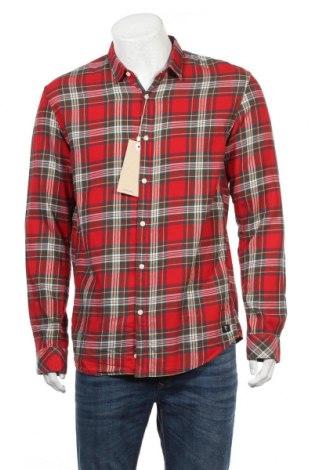 Męska koszula Tom Tailor, Rozmiar L, Kolor Czerwony, Bawełna, Cena 110,63zł