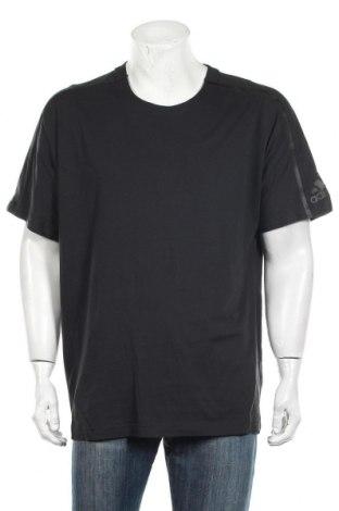Ανδρικό t-shirt Adidas, Μέγεθος XL, Χρώμα Μαύρο, Βαμβάκι, Τιμή 20,37€