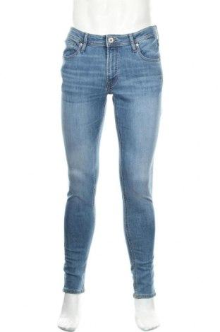 Мъжки дънки Jack & Jones, Размер L, Цвят Син, 70% памук, 28% полиестер, 2% еластан, Цена 33,95лв.
