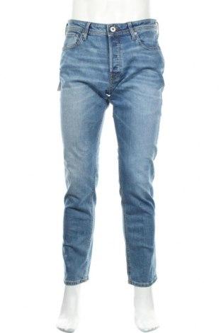 Мъжки дънки Jack & Jones, Размер L, Цвят Син, 98% памук, 2% еластан, Цена 87,30лв.