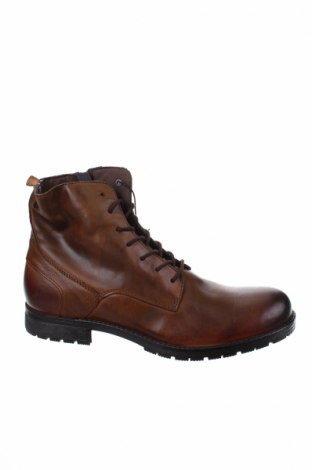 Ανδρικά παπούτσια Jack & Jones, Μέγεθος 45, Χρώμα Καφέ, Γνήσιο δέρμα, Τιμή 60,98€