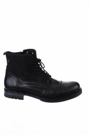 Ανδρικά παπούτσια Jack & Jones, Μέγεθος 44, Χρώμα Μαύρο, Γνήσιο δέρμα, Τιμή 60,98€