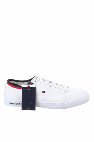 Ανδρικά παπούτσια Tommy Hilfiger, Μέγεθος 43, Χρώμα Λευκό, Κλωστοϋφαντουργικά προϊόντα, Τιμή 53,76€